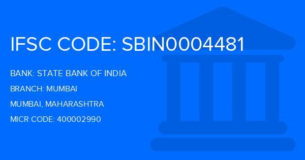 State Bank Of India (SBI) Mumbai Branch IFSC Code