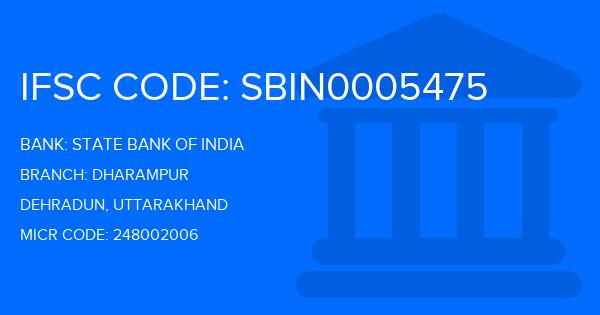 State Bank Of India (SBI) Dharampur Branch IFSC Code