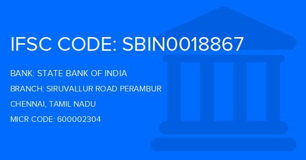 state bank of india ambattur industrial estate branch address ifsc code