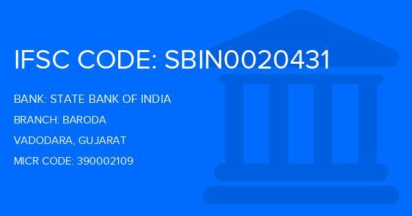 state bank of india vadodara branch