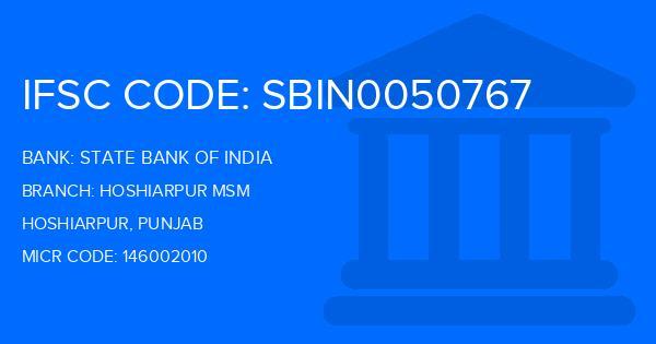 State Bank Of India (SBI) Hoshiarpur Msm Branch, Hoshiarpur