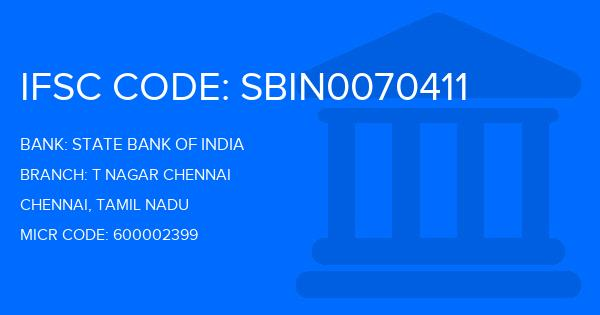 state bank of india ifsc code t nagar chennai
