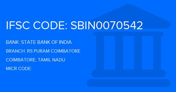 state bank of india rs puram branch ifsc code