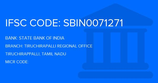 State Bank Of India (SBI) Tiruchirapalli Regional Office Branch IFSC Code