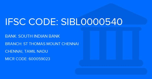 south indian bank chennai branch ifsc code