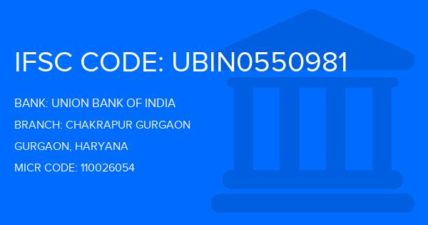 union bank of india main branch gurgaon