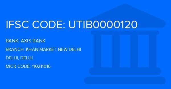 axis bank ifsc code khan market new delhi