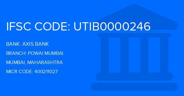 ifsc code of axis bank powai branch mumbai